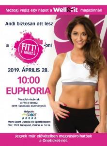Euphoria, Fitt a Tavasz 2019, fitness, tánc, pilates, martial arts, afrikai tánc
